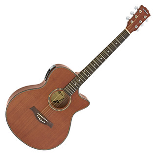 Deluxe Single Cutaway Electro Acoustic Guitar by Gear4music, Sapele