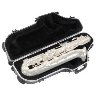 SKB Contoured Baritone Saxophone Case - Angled Open