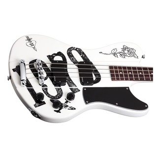 Schecter Simon Gallup Ultra Spitfire Bass Guitar, White