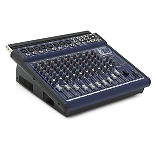 600W PA System with Passive Speakers, Powered Mixer, Mic and Stands