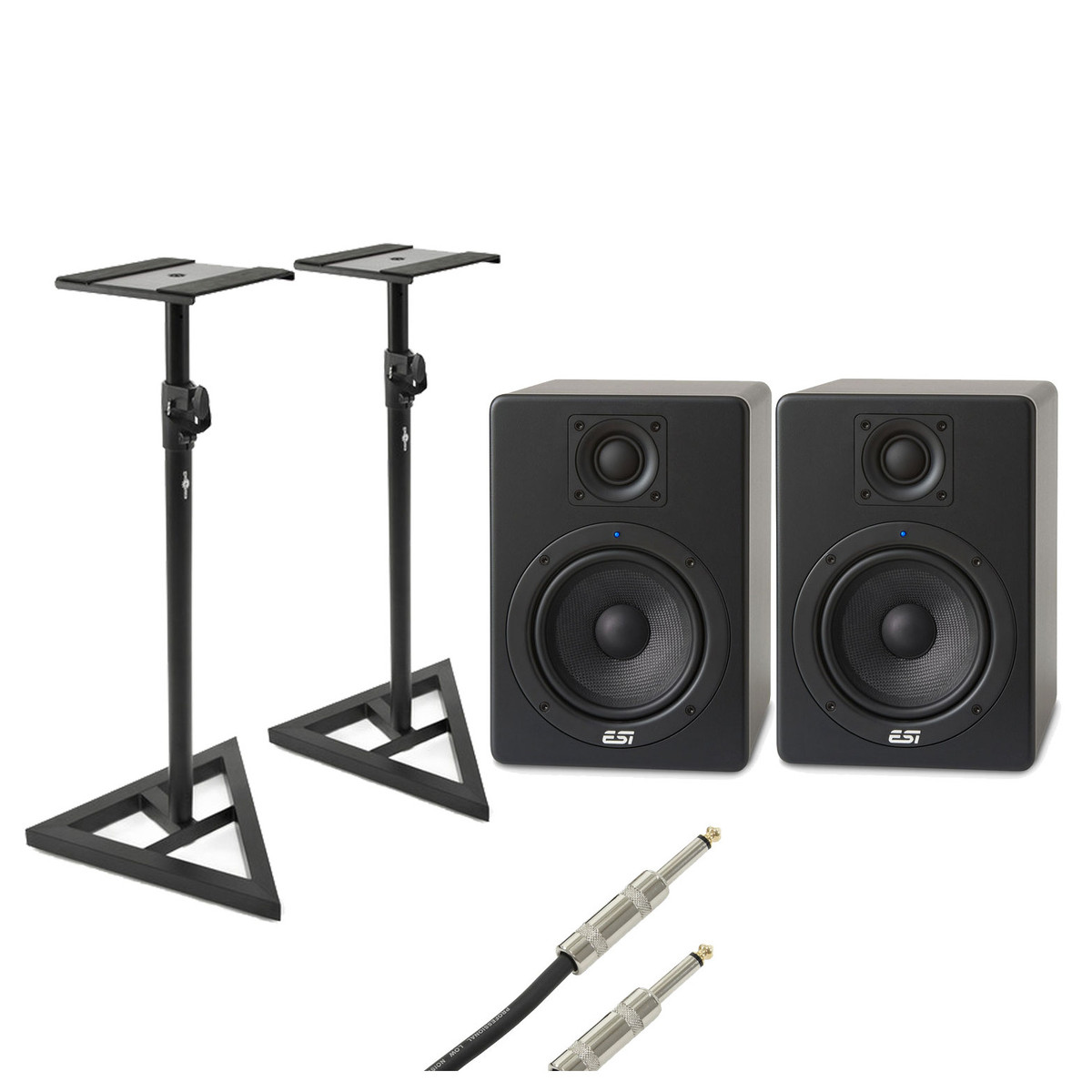 ESI aktiv 05 Active Studio Monitors with Free Stands and Cables