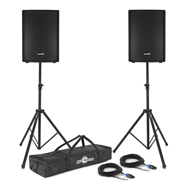 """SubZero 800W 15"""" Passive PA Speaker Bundle"""