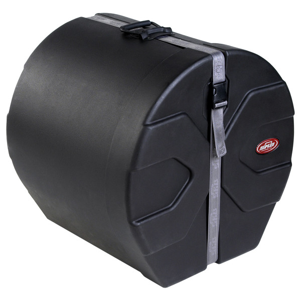 "SKB 16"" x 18"" Floor Tom Case with Padded Interior - Angled Closed"
