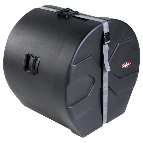 "SKB 16"" x 20"" Bass Drum Case With Padded Interior - Angled Closed"