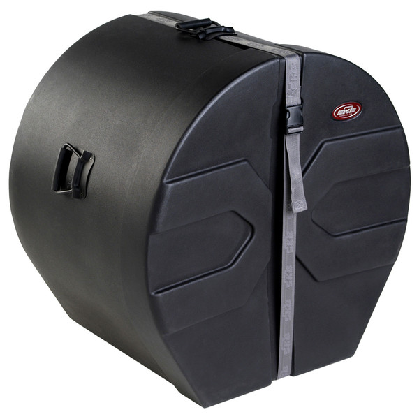 "SKB 16"" x 22"" Bass Drum Case With Padded Interior - Angled Closed"