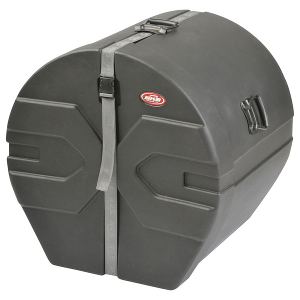"SKB 18"" x 22"" Bass Drum Case With Padded Interior - Angled Closed"