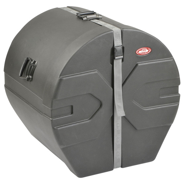 "SKB 18"" x 22"" Bass Drum Case With Padded Interior - Angled Closed 2"
