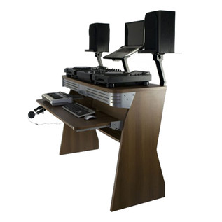 Sefour X60 Studio DJ Desk, Tobacco Walnut
