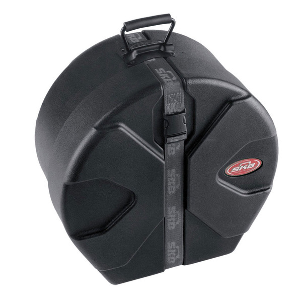 """SKB 5.5"""" x 14"""" Snare Case With Padded Interior - Front Angled"""