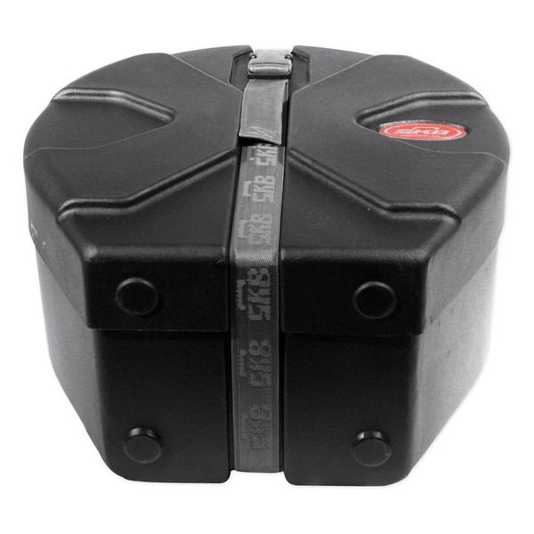 """SKB 6.5"""" x 14"""" Snare Case With Padded Interior - Bottom Closed"""