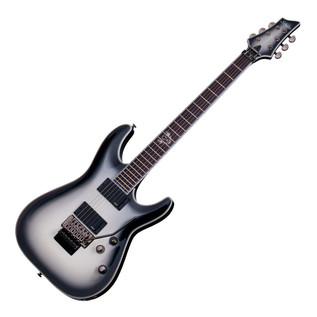 Schecter Jake Pitts C-1 FR Electric Guitar, White with a Black Burst