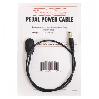 Voodoo Lab Straight Barrel To Battery Snap Cable 18 Inch