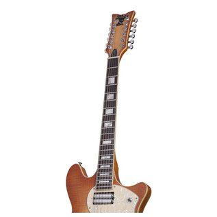 Schecter T S/H-12 Classic Electric Guitar, Vintage Natural Burst