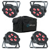 ADJ Mega TRIPAR Profile Plus 4 Pack with Bag