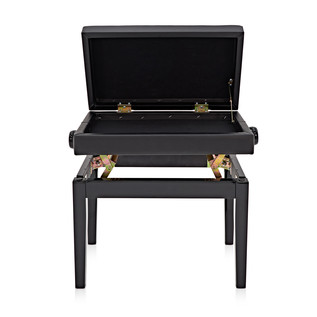 Deluxe Piano Stool with Storage by Gear4music