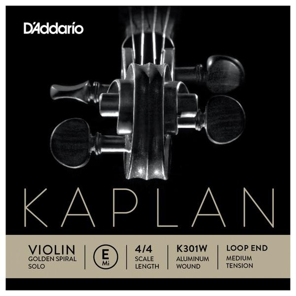 Daddario Kaplan Golden Spiral Violin E String, Aluminium Wound, Loop