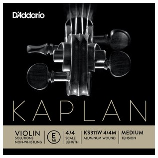 Daddario Kaplan Golden Spiral Violin E String, None-Whistling, Ball