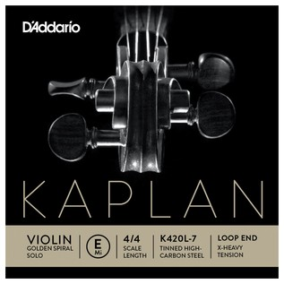 Daddario Kaplan Golden Spiral Solo Violin E String, Loop, Extra Heavy