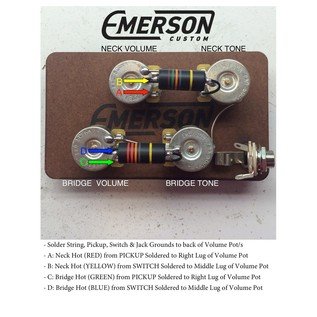 Emerson Custom Deluxe Prewired Kit, 500k