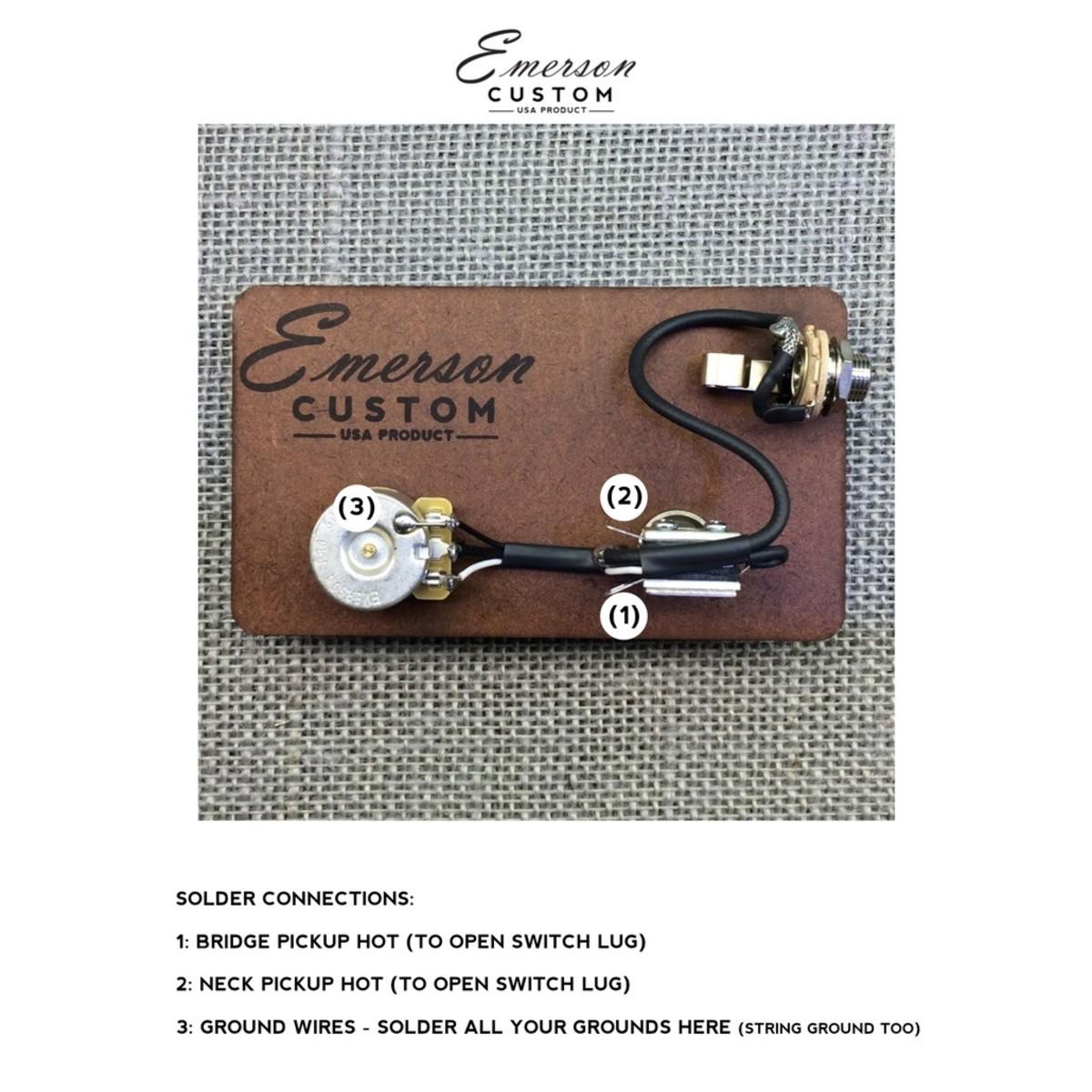 emerson custom cabronita prewired kit 500k at gear4music com rh gear4music com