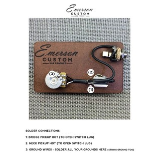 Emerson Custom Cabronita Prewired Kit, 500k