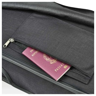 Negri Milano Violin Case in Black and Burgundy
