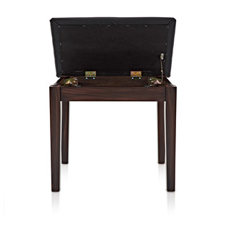 Piano Stool with Storage by Gear4music, Rosewood