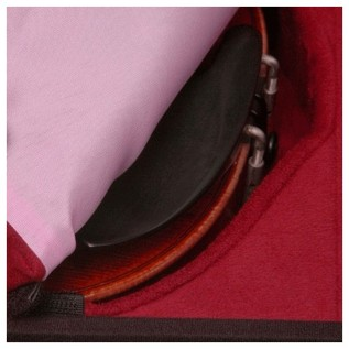 Negri Milano Leather Violin Case in Black and Burgundy