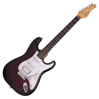 Schecter Traditional Custom Electric Guitar, Black Cherry Burst