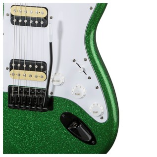 Squier by Fender FSR Affinity Stratocaster HH, Candy Green Sparkle