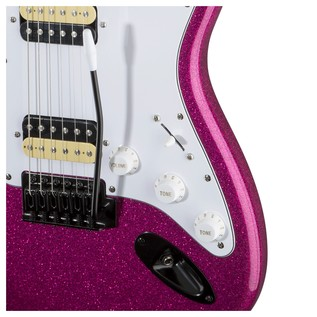 Squier by Fender FSR Affinity Stratocaster HH, Candy Pink Sparkle
