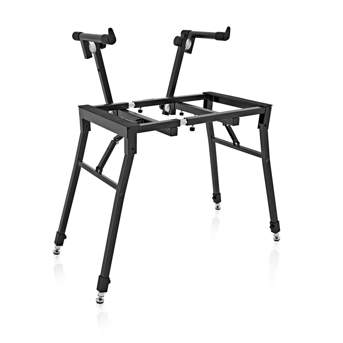 deluxe 2 tier keyboard stand by gear4music b stock at gear4music. Black Bedroom Furniture Sets. Home Design Ideas