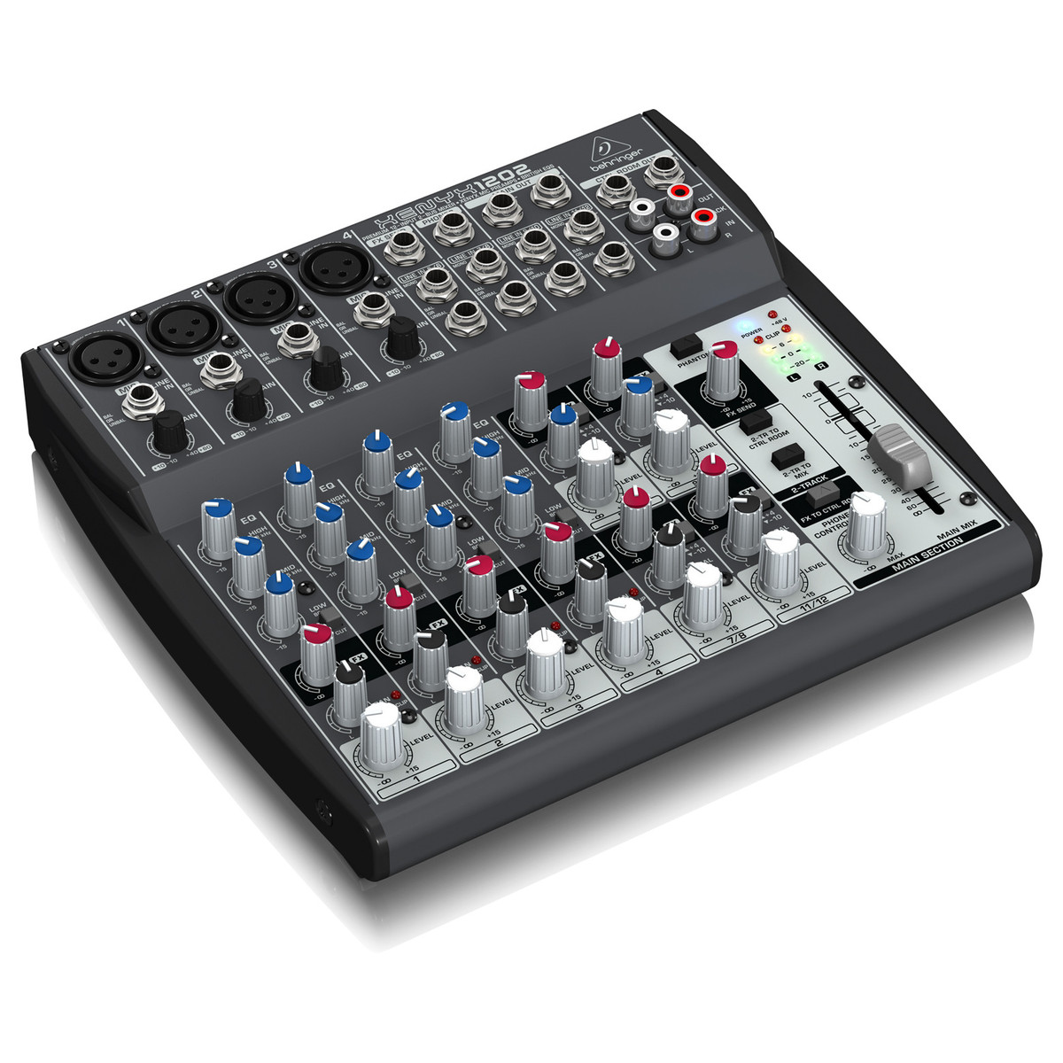 Behringer xenyx 1202 table de mixage gear4music - Table de mixage behringer ...