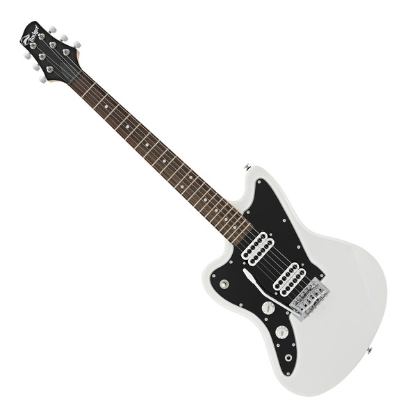 Badger Classic Left Handed Electric Guitar, White