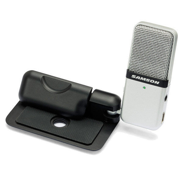 Samson Go Mic Portable USB Condenser Microphone, Front Angled Left