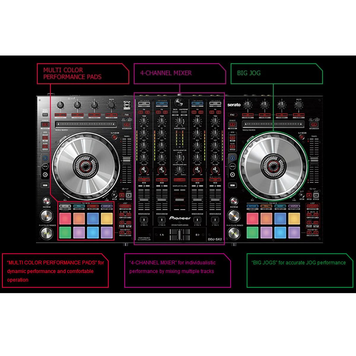 Pioneer DDJ-SX2 4 Channel DJ Controller for Serato and Flip - Box Opened