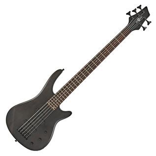 Lexington 5 String Bass Guitar by Gear4music, Trans Black