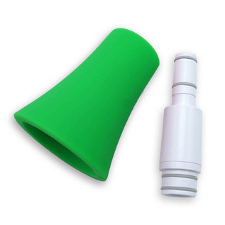 Nuvo jSax Straight Neck Conversion Kit, White with Green Trim