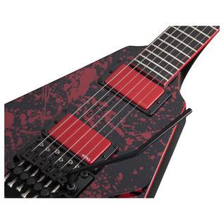 Schecter V-1 FR Blood Splatter Special Edition Guitar