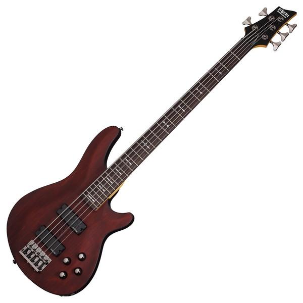 Schecter Omen-5 Bass Guitar, Walnut Satin