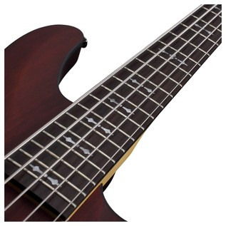 Schecter Omen-5 Bass Guitar, Walnut Satin
