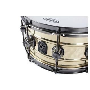 Natal Brass Centre Hammered 13x6.5 Snare Drum , Brushed Nickel