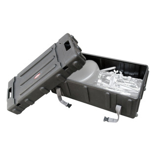 SKB Mid-Sized Drum Hardware Case with Handle - Angled Open (Hardware Not Included)