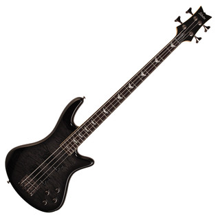 Schecter Stiletto Extreme-4 Bass Guitar, See-Thru Black