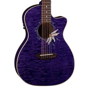 Luna Flora Passionflower Electro Acoustic Guitar