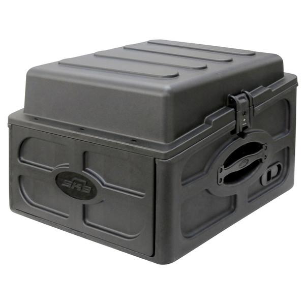 SKB 10x4 Audio and DJ Rack Case - Angled Closed