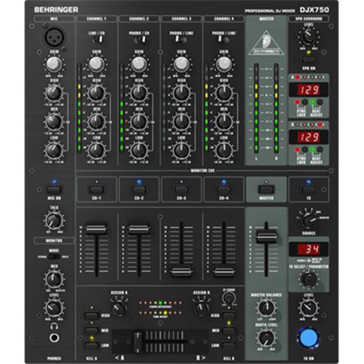 91ee28ef67cbe Behringer DJX750 DJ Pro Mesa de Mezclas - Caja abierta