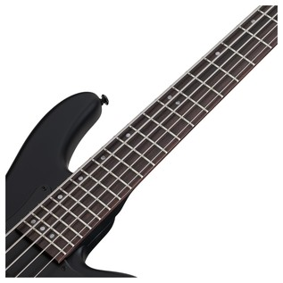 Stiletto Stealth-5 Bass Guitar, Satin Black