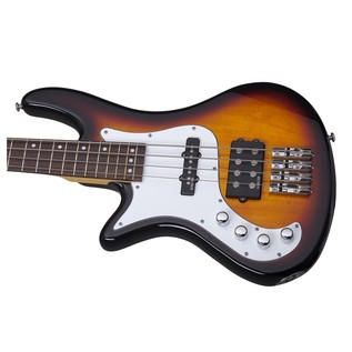 Schecter Stiletto Vintage-4 Left Handed Bass Guitar, Sunburst