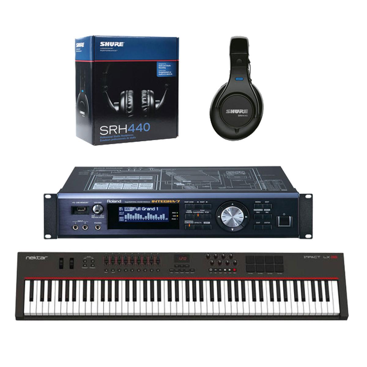 DISC Roland INTEGRA-7, Nektar LX-88 Controller and Headphones
